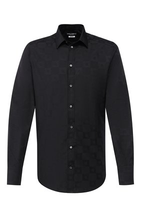 Мужская хлопковая сорочка DOLCE & GABBANA черного цвета, арт. G5EJ1T/FJ5F7 | Фото 1