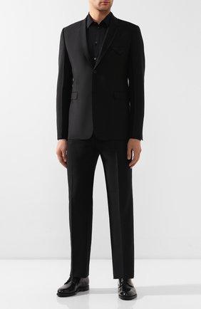 Мужская хлопковая сорочка DOLCE & GABBANA черного цвета, арт. G5EJ1T/FJ5F7 | Фото 2
