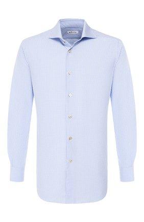 Мужская хлопковая сорочка KITON голубого цвета, арт. UCCH0700104 | Фото 1