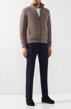 Мужской шерстяные брюки ZILLI темно-синего цвета, арт. M0S-40-A-B6402/0001 | Фото 2