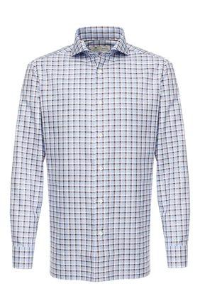 Мужская хлопковая сорочка LUIGI BORRELLI голубого цвета, арт. EV08/FELICE/TS8814 | Фото 1