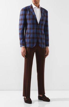 Мужские шерстяные брюки BERWICH коричневого цвета, арт. SC/1 ALC/RD5470 | Фото 2