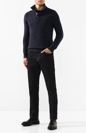 Мужской шерстяной свитер GRAN SASSO темно-синего цвета, арт. 10102/25704 | Фото 2