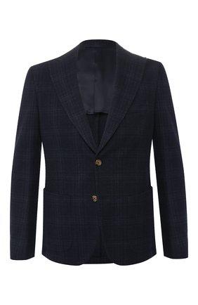 Мужской пиджак из смеси хлопка и шерсти ELEVENTY UOMO темно-синего цвета, арт. 979JA0117 JAC28028 | Фото 1