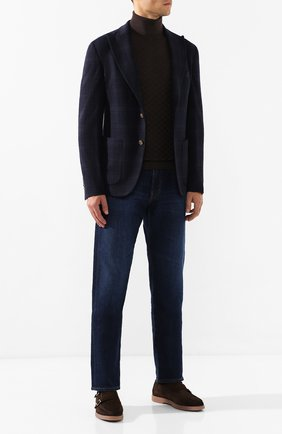 Мужской пиджак из смеси хлопка и шерсти ELEVENTY UOMO темно-синего цвета, арт. 979JA0117 JAC28028 | Фото 2