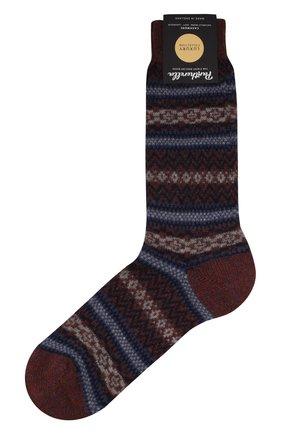 Мужские кашемировые носки PANTHERELLA синего цвета, арт. 57000 | Фото 1