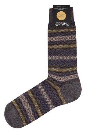 Мужские кашемировые носки PANTHERELLA серого цвета, арт. 57000 | Фото 1