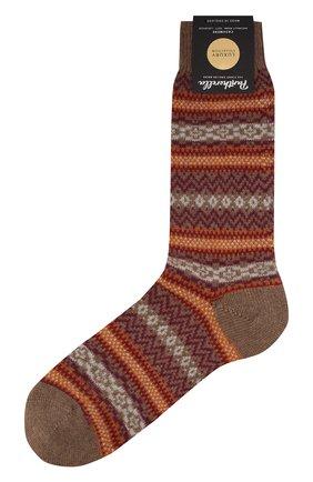 Мужские кашемировые носки PANTHERELLA оранжевого цвета, арт. 57000 | Фото 1