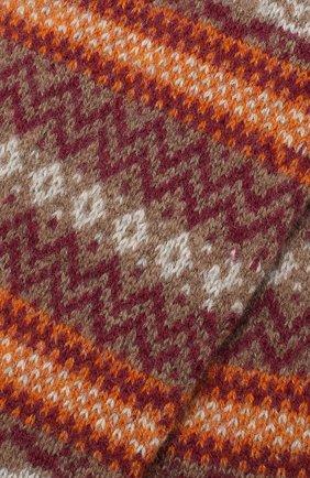 Мужские кашемировые носки PANTHERELLA оранжевого цвета, арт. 57000 | Фото 2