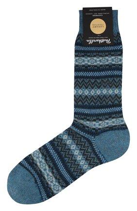 Мужские кашемировые носки PANTHERELLA голубого цвета, арт. 57000 | Фото 1