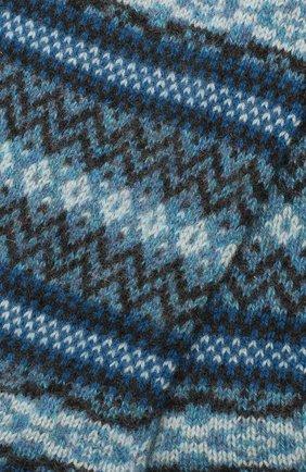 Мужские кашемировые носки PANTHERELLA голубого цвета, арт. 57000 | Фото 2