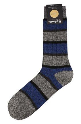 Мужские кашемировые носки PANTHERELLA синего цвета, арт. 57001 | Фото 1