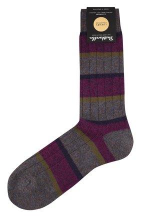 Мужские кашемировые носки PANTHERELLA сиреневого цвета, арт. 57001 | Фото 1