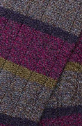 Мужские кашемировые носки PANTHERELLA сиреневого цвета, арт. 57001 | Фото 2