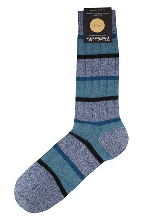 Мужские кашемировые носки PANTHERELLA голубого цвета, арт. 57001 | Фото 1