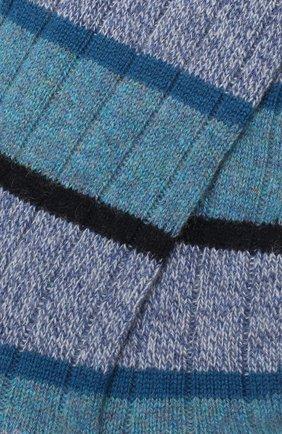 Мужские кашемировые носки PANTHERELLA голубого цвета, арт. 57001 | Фото 2