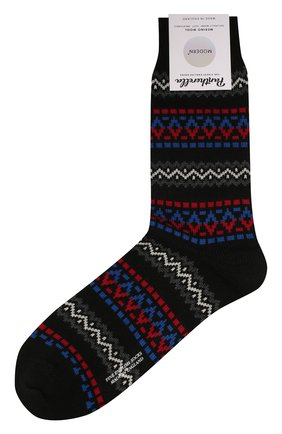 Мужские шерстяные носки PANTHERELLA черного цвета, арт. 89887 | Фото 1