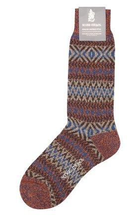 Мужские шерстяные носки PANTHERELLA коричневого цвета, арт. YS1022 | Фото 1