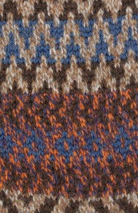Мужские шерстяные носки PANTHERELLA коричневого цвета, арт. YS1022 | Фото 2