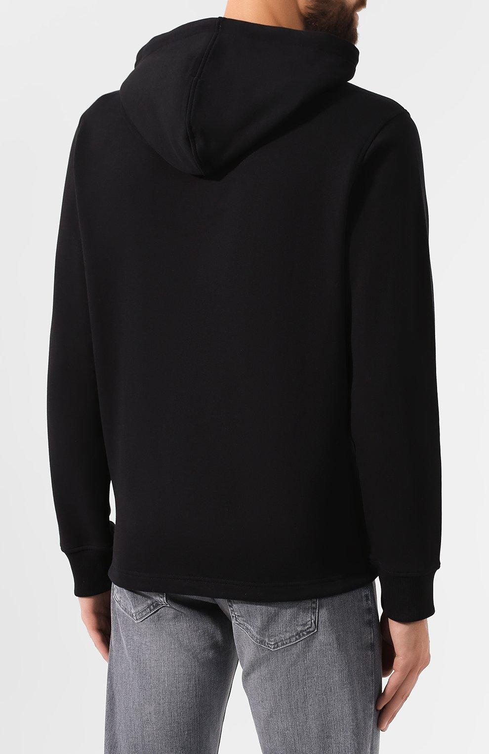 Мужской хлопковое худи KENZO черного цвета, арт. F965SW4414XL | Фото 4