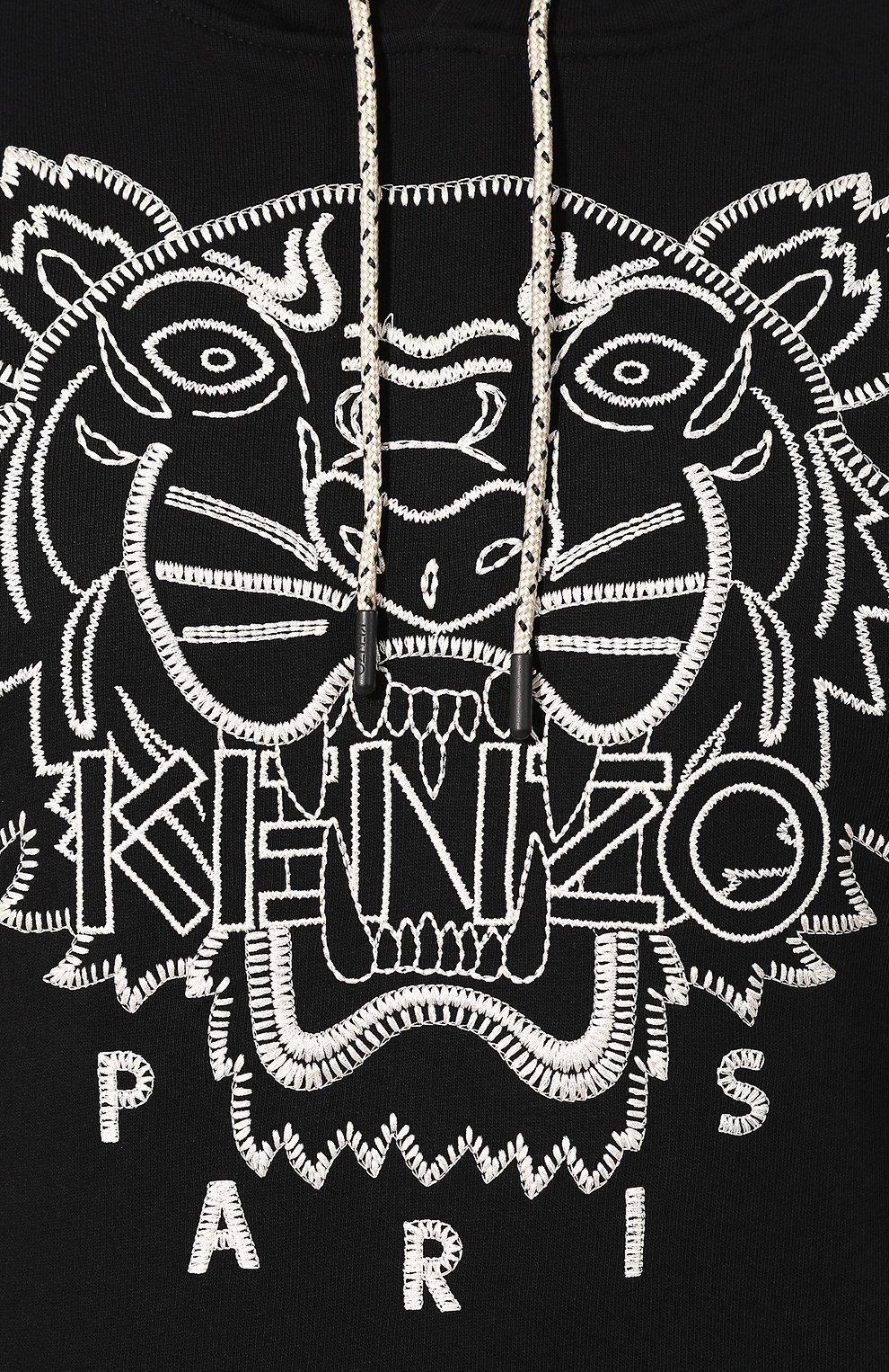 Мужской хлопковое худи KENZO черного цвета, арт. F965SW4414XL | Фото 5
