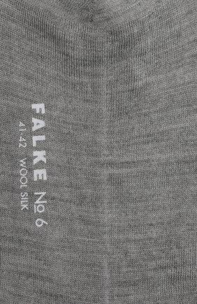 Мужские носки из смеси шерсти и шелка FALKE серого цвета, арт. 14451 | Фото 2