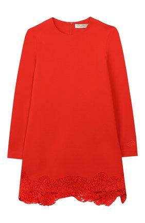 Детское платье с кружевной отделкой PHILOSOPHY DI LORENZO SERAFINI KIDS красного цвета, арт. PJAB33/JE08/UH026/L-XL   Фото 1