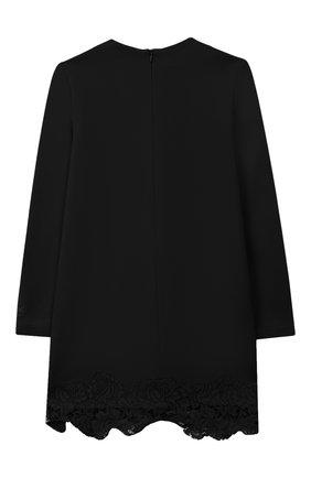 Детское платье с кружевной отделкой PHILOSOPHY DI LORENZO SERAFINI KIDS черного цвета, арт. PJAB33/JE08/UH026/L-XL   Фото 2