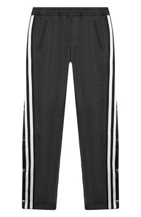 Детские брюки NEIL BARRETT KIDS темно-серого цвета, арт. 020619 | Фото 1