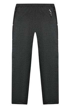 Детские брюки NEIL BARRETT KIDS темно-серого цвета, арт. 020619 | Фото 2