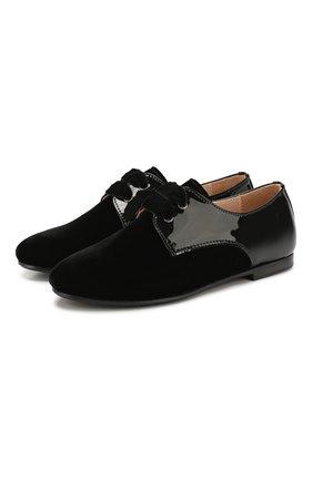 Текстильные туфли с кожаной отделкой | Фото №1