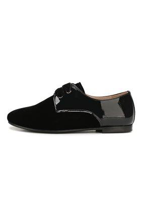 Детские текстильные туфли с кожаной отделкой BEBERLIS черного цвета, арт. 20997/31-34 | Фото 2