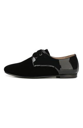 Детские текстильные туфли с кожаной отделкой BEBERLIS черного цвета, арт. 20997/35-38 | Фото 2