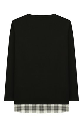 Детская хлопковый лонгслив PAOLO PECORA MILANO черного цвета, арт. PP2038/14Y-16Y | Фото 2