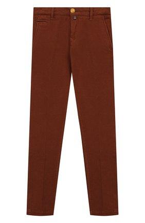 Детские хлопковые брюки JACOB COHEN бежевого цвета, арт. B0BBY T-10004   Фото 1