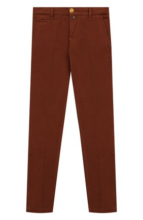 Детские хлопковые брюки JACOB COHEN бежевого цвета, арт. B0BBY J-10004   Фото 1