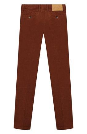 Детские хлопковые брюки JACOB COHEN бежевого цвета, арт. B0BBY J-10004   Фото 2
