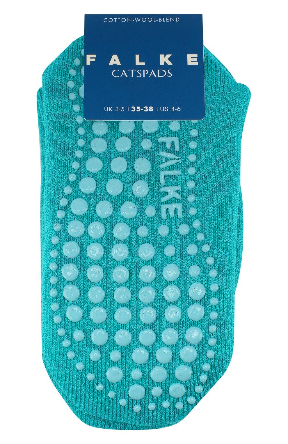 Детские носки из хлопка и шерсти FALKE зеленого цвета, арт. 10500   Фото 1