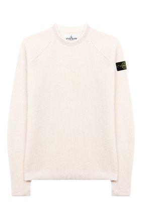 Детский шерстяной пуловер STONE ISLAND бежевого цвета, арт. 7116512D2/10-12 | Фото 1