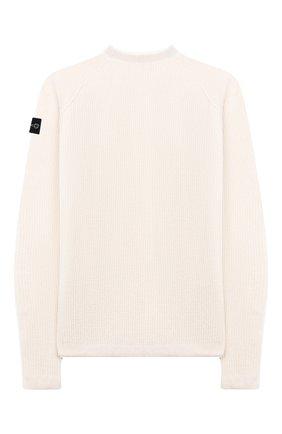 Детский шерстяной пуловер STONE ISLAND бежевого цвета, арт. 7116512D2/10-12 | Фото 2