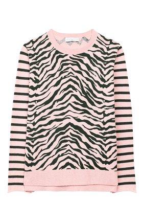 Пуловер из хлопка и шерсти | Фото №1
