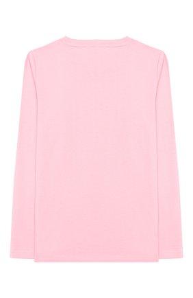 Детская хлопковый лонгслив STELLA MCCARTNEY розового цвета, арт. 566120/SNJI4   Фото 2