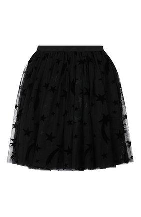 Детская юбка STELLA MCCARTNEY черного цвета, арт. 566543/SNK22 | Фото 1