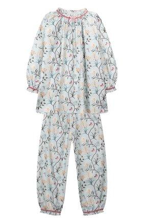 Детская хлопковая пижама AMIKI CHILDREN голубого цвета, арт. MARTHA | Фото 1