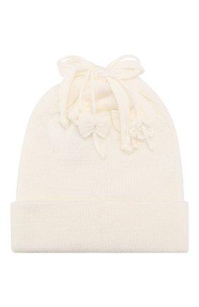 Детского шерстяная шапка ALETTA белого цвета, арт. CRB999823 | Фото 1