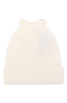Детского шерстяная шапка ALETTA белого цвета, арт. CRB999823 | Фото 2