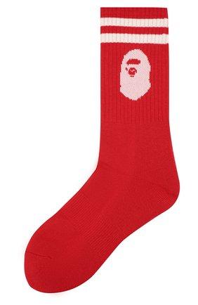 Мужские хлопковые носки BAPE красного цвета, арт. 1F20183006 | Фото 1