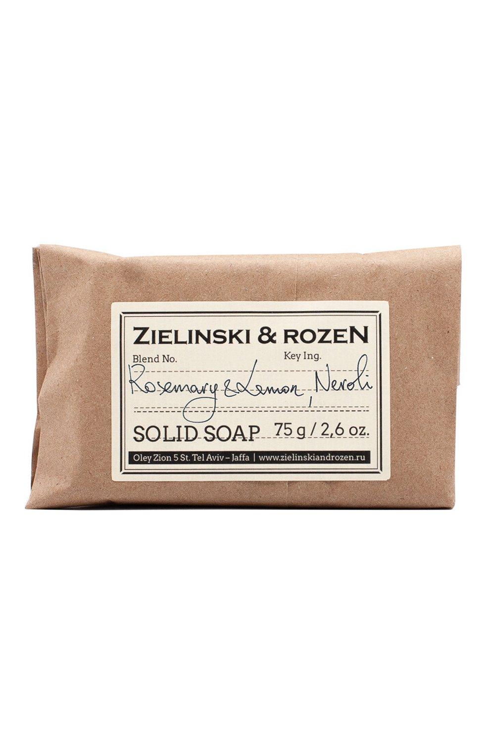 Женского твёрдое мыло rosemary & lemon, neroli ZIELINSKI&ROZEN бесцветного цвета, арт. 4627153150671 | Фото 1