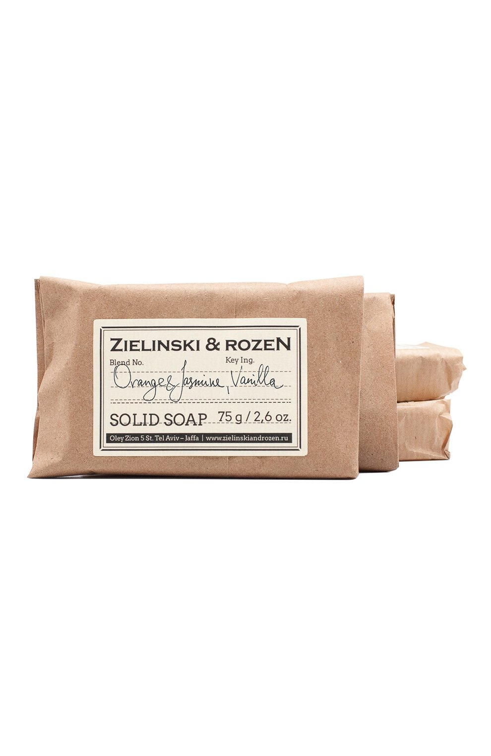 Женского твердое мыло orange & jasmine, vanilla ZIELINSKI&ROZEN бесцветного цвета, арт. 4627153150695 | Фото 1