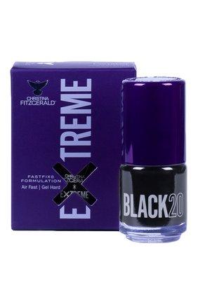 Лак для ногтей Extreme, оттенок Black 20 | Фото №1